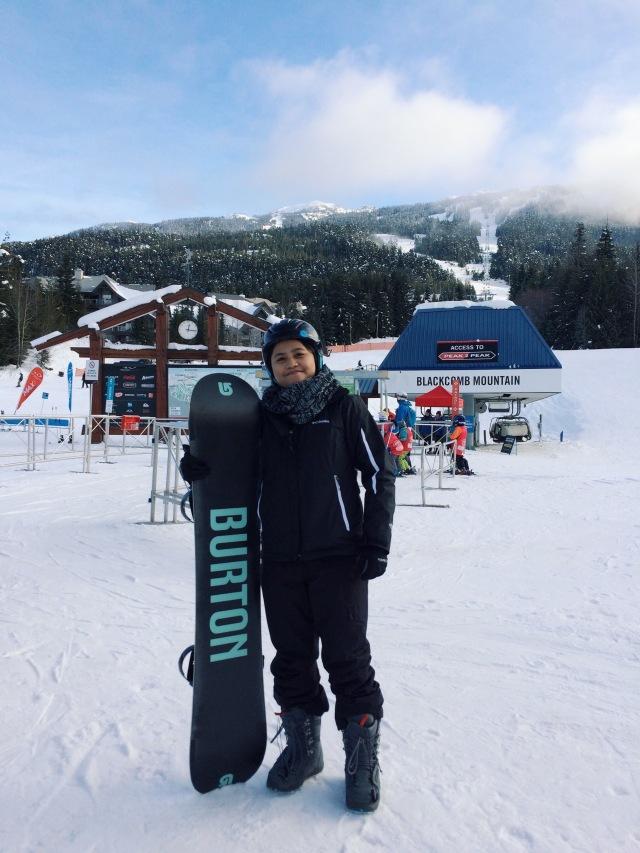 Whistler snow boarding