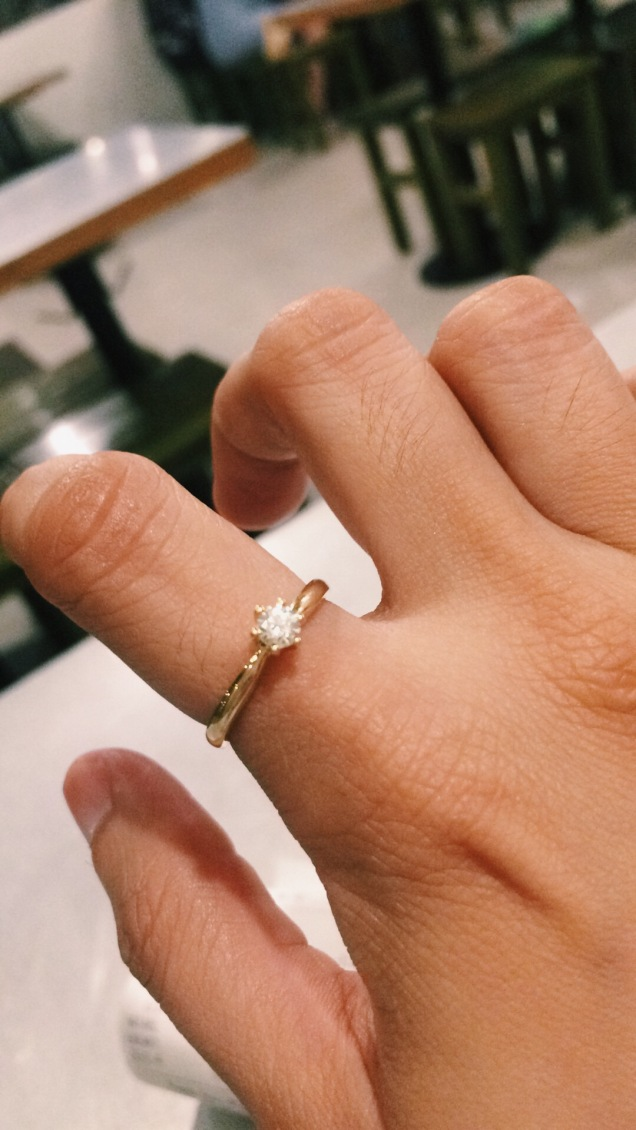 My engagemet ring! <3 <3 <3 #love #engaged #proposal #life #couple #fiance